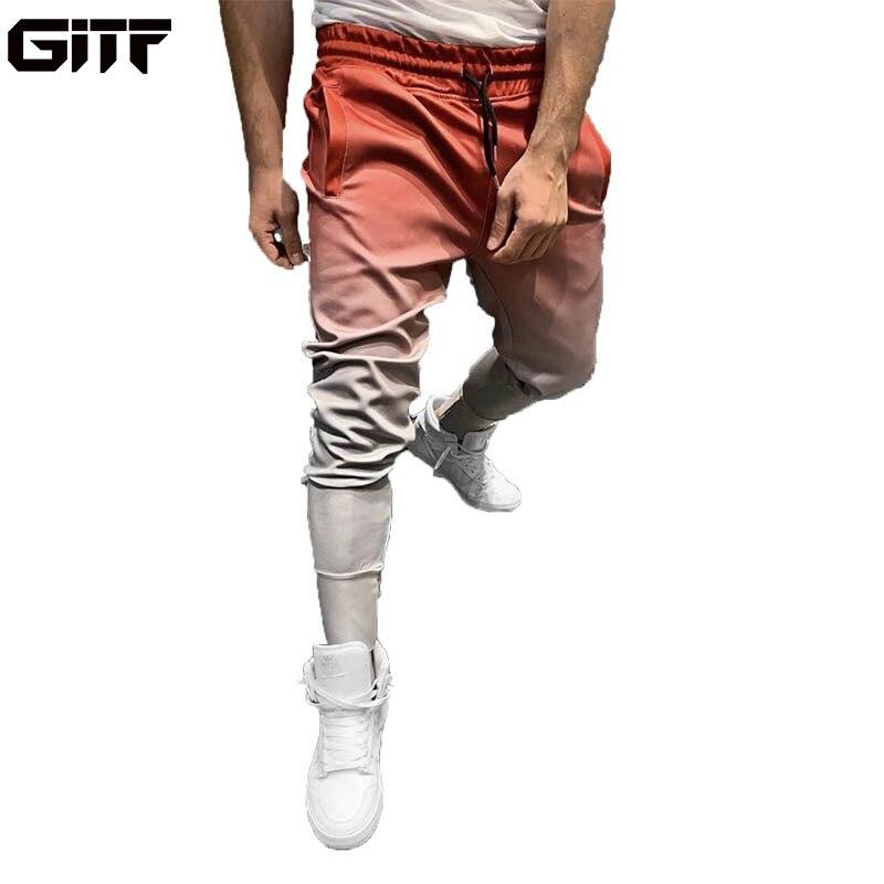 GITF pantalones de trote gradiente, pantalones de entrenamiento de gimnasia para hombre, ropa deportiva, pantalones deportivos para hombre, pantalones de chándal para correr