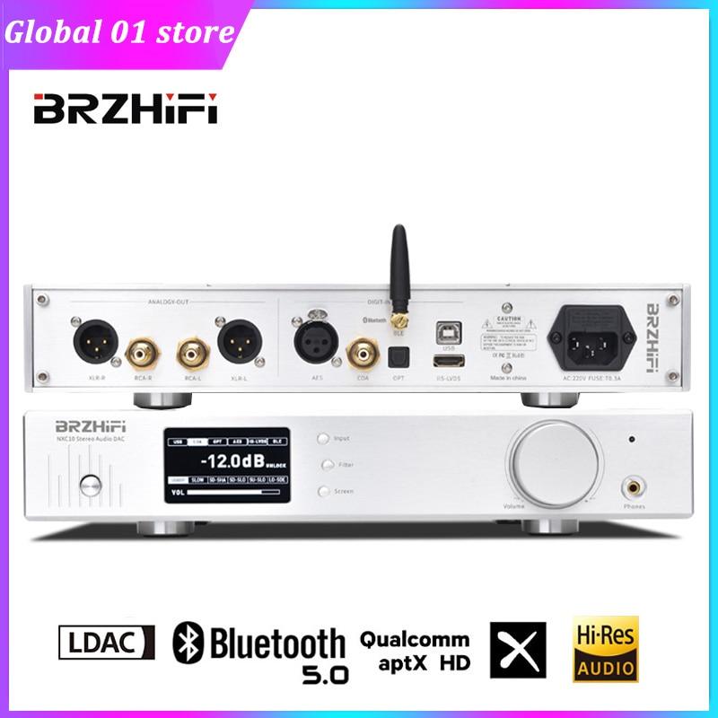 BRZHIFI AK4499EQ التوازن DAC USB Amanero CSR8675 AK4418 بلوتوث LDAC APTX-HD مرحبا فاي الصوت فك 32Bit 384KHz DSD512 فك