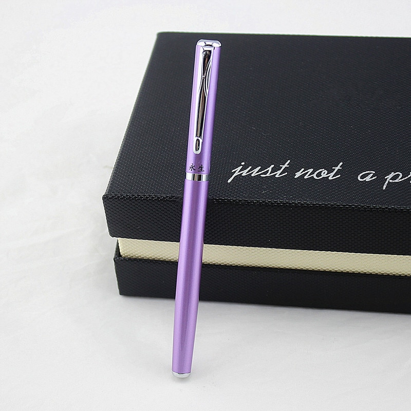 3 cores clássico asa sung metal finanças caneta fonte de alta qualidade artigos de papelaria escola material escritório escrita caneta tinta para o presente