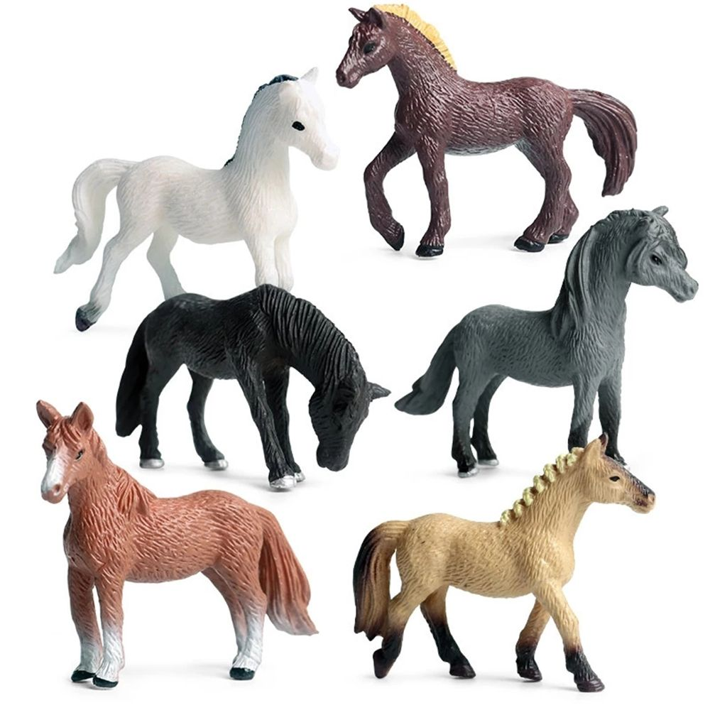 jurassic dinosaur model simulation brachiosaurus pvc plastic toy model educational toy hand painted toys for children gift 6pcs PVC Model Horse Baby Figure Collection Doll Toy for children Educational toys Simulation Wild Animal Toy Plastic Action