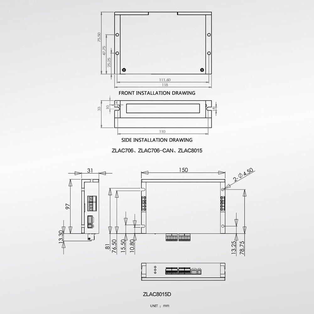 5 inch Built-in Encoder Robot Hub Servo Motor ZLLG50ASM200 Servo Driver Sleeve ZLLG50ASM200+ZLAC706-RC enlarge