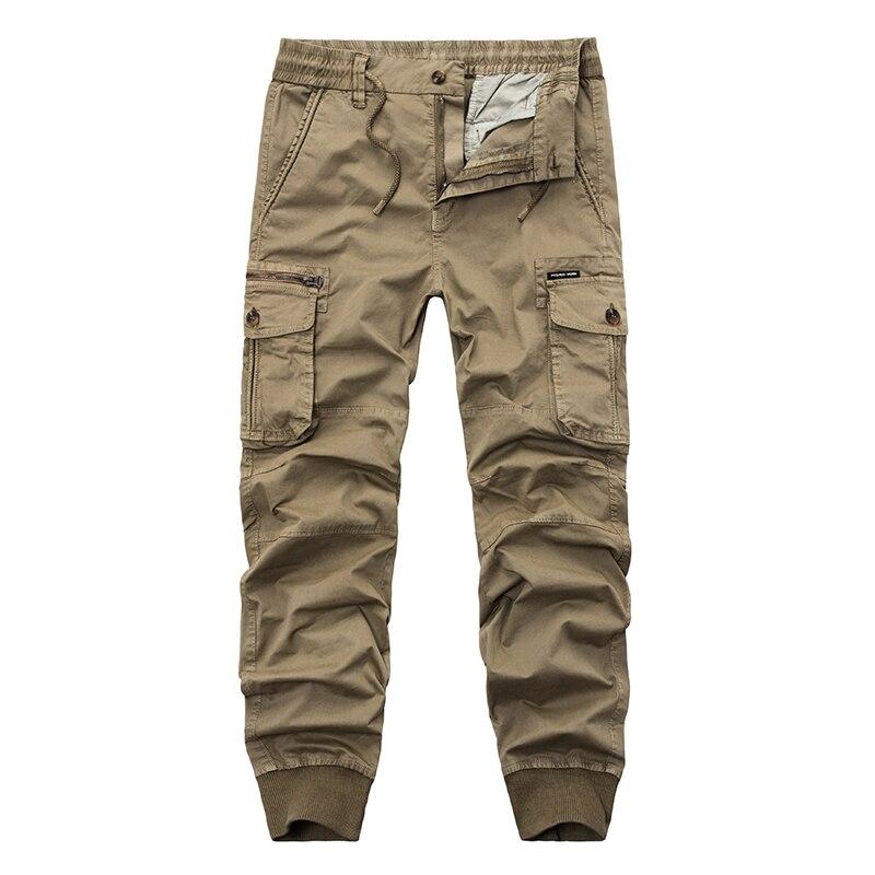 Мужские брюки-карго, мужские брюки с эластичным поясом, мужские повседневные Модные джоггеры, спортивные брюки, черные брюки-султанки, арме...