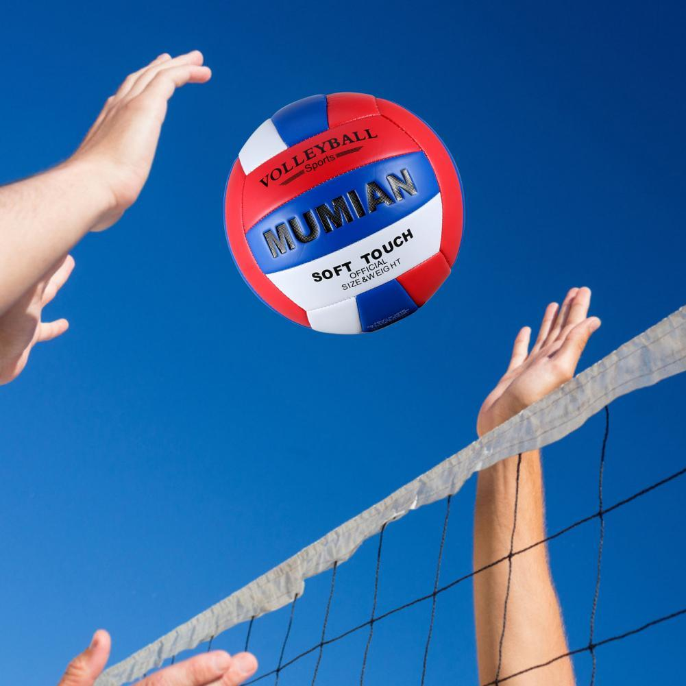 Красная, синяя и белая герметичная газовая насадка Yiyuan для игры в волейбол, нескользящая Мягкая надувная игла для пляжного волейбола