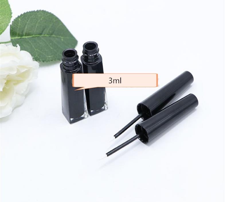 3ml Black Makeup Empty Liquid Eyeliner Refillable Bottle Applicator Eyebrow Enhancer Eyelash Growth Serum Tubes SN756