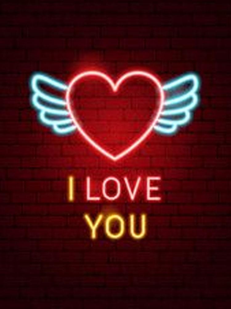 مصباح فلورسنت led على شكل جناح ، أنابيب زجاجية ، ضوء وامض لتزيين المنزل ، رسالة حب