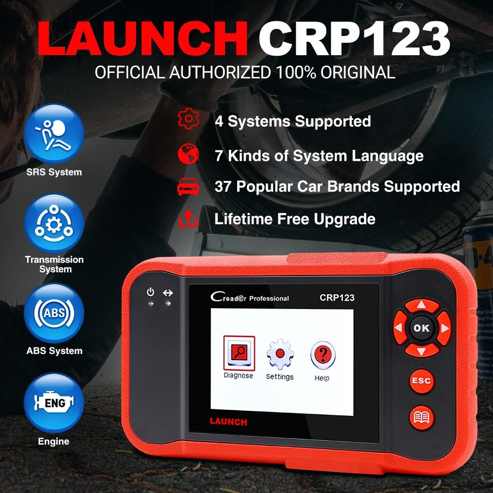 2021 أفضل بيع إطلاق X431 CRP123 obd2 أدوات تحديث على الانترنت Creader CRP123 ABS SRS نقل رمز المحرك الماسح الضوئي شحن مجاني