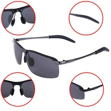 1pcs Rectangle Polarized Sunglasses Men Mirror Driving Sun Glasses Driver Sunglass UV400