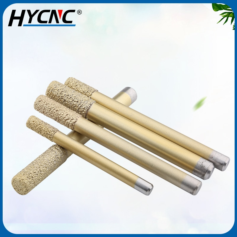 1pcs Flat Bottom Slotted Straight Knife Welding Sintering Granite Flat Head Drill Used For CNC Machine Tool Stone Carving Tools enlarge