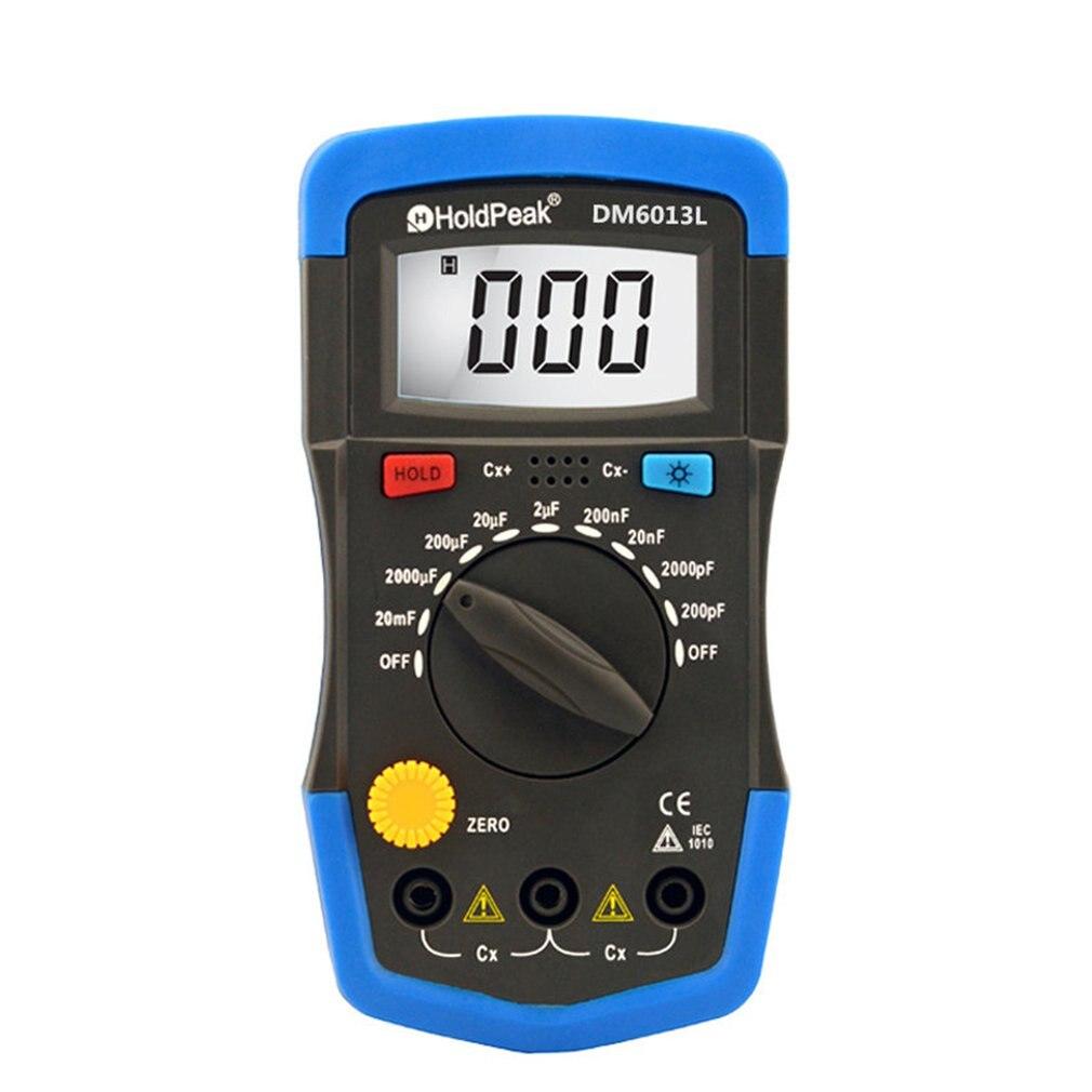 DM6013L Tragbare Handheld Digitale Kapazität Kondensator Meter 1999 Zählt Tester 200pF ~ 20mF Daten Halten Hintergrundbeleuchtung Kondensator Meter