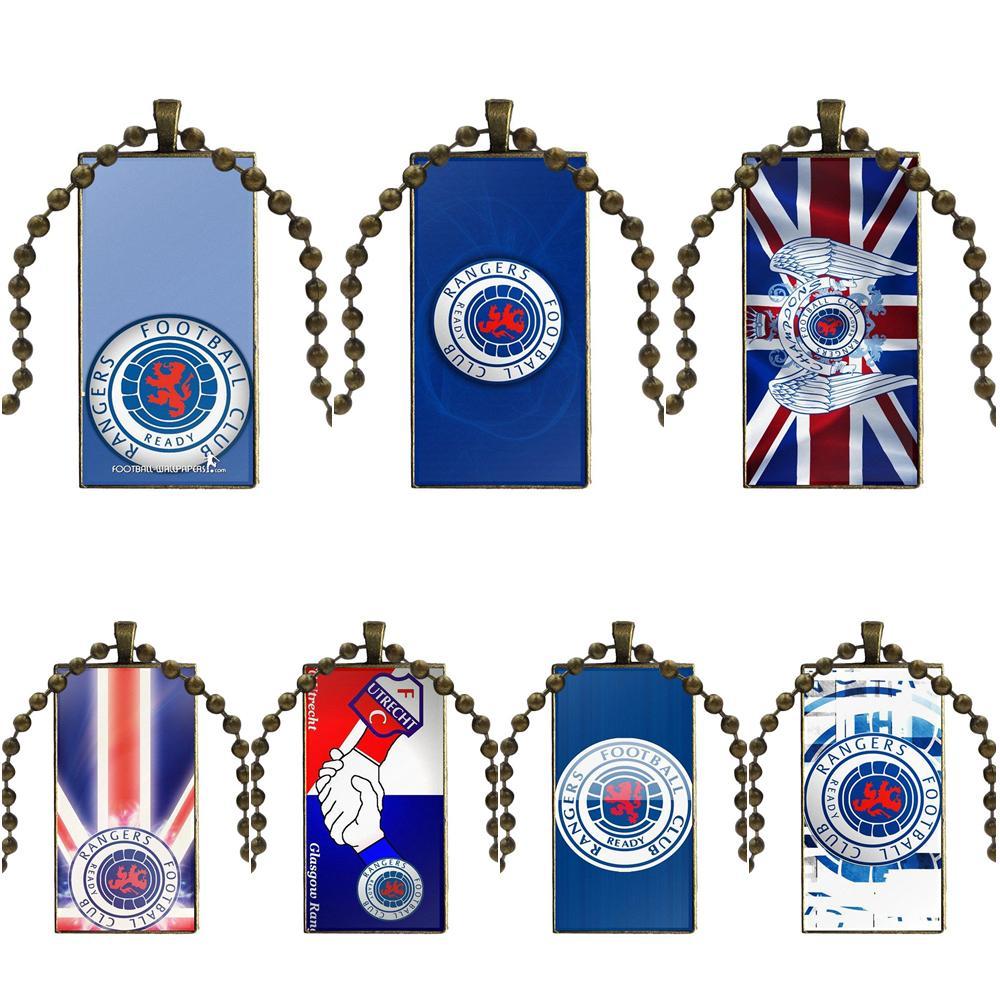 EJ glaze для женщин Глазго ожерелье рейнджеров модная Длинная цепочка с прямоугольным ожерельем ювелирные изделия