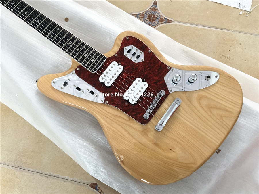 Inheriting the classic wood color master jazz electric guitar can be customized free shipping