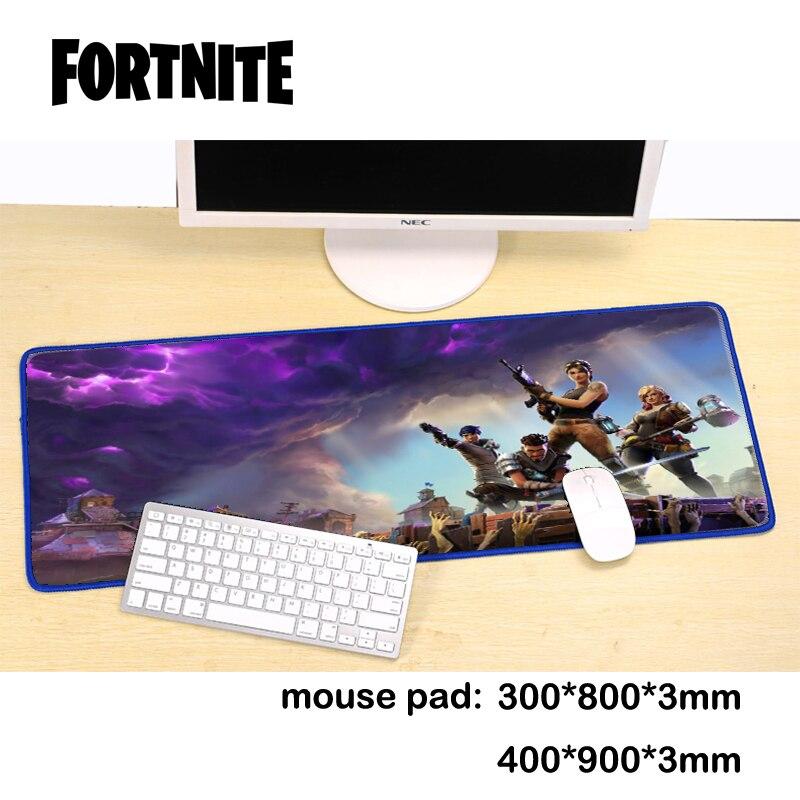 Original fortnite spiel übergroßen kreative büro computer tastatur maus pad verdickt einfache naht anti-skid student schreibtisch matte