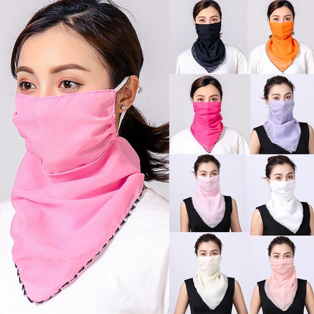 Женский шарф на голову Foulard Femme, Женский солнцезащитный шифоновый защитный шарф, защитный шарф на шею, бандана, бандана