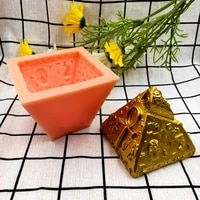 diy baking 3d stereo pyramid cake decoration fondant silicone mold candle silicone mold pyramid decoration mould 2021 new