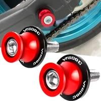 8mm motorcycle swingarm spools stand screws slider for honda vt600c 1998 2007 2006 2005 2004 2003 2002 stand screws vt 600c logo