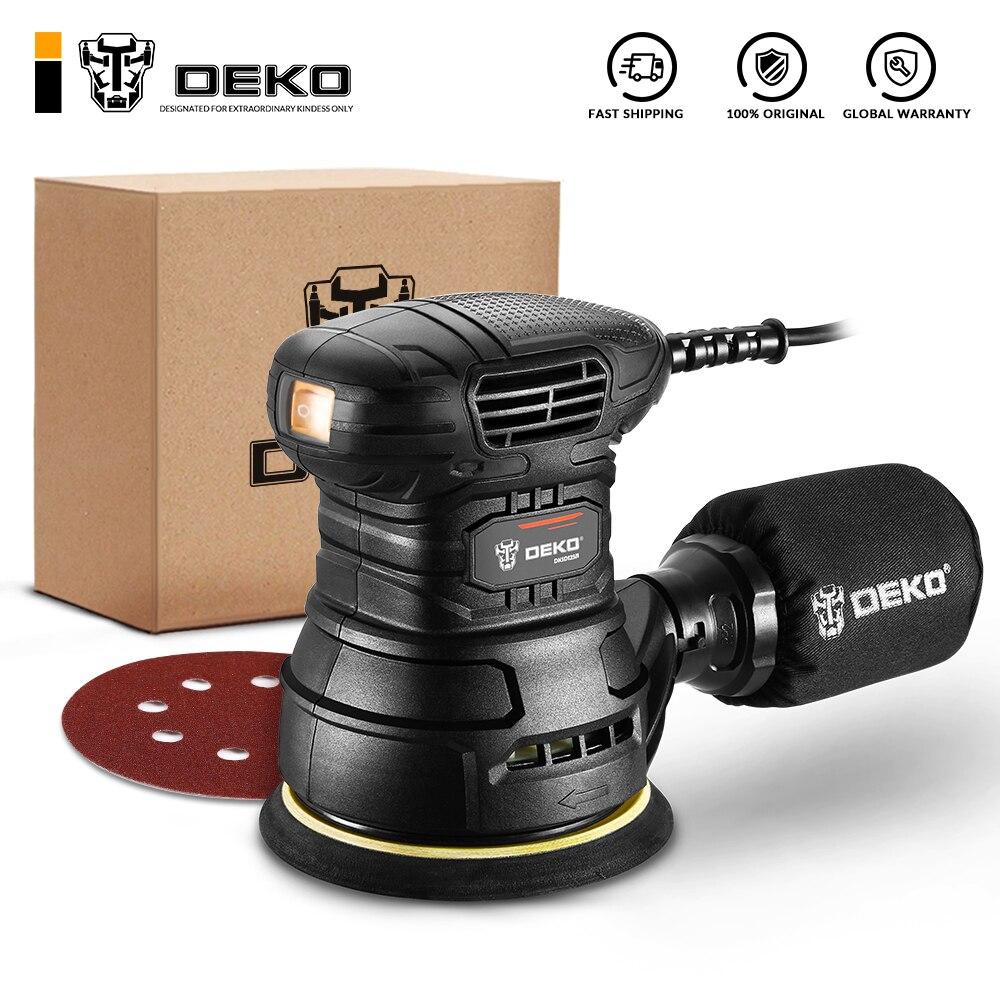 DEKO DKSD125J1/DKSD150J2 350W Random Orbit Sander with Dust exhaust and Hybrid dust canister