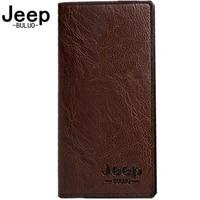 jeep buluo brand card holder coin purse mens long brand wallet clutch carteira masculina men leather men wallets business