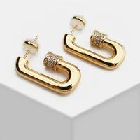 11 zircinia screw geo dangle earrings for women jewelry punk ins handmade drop earrings