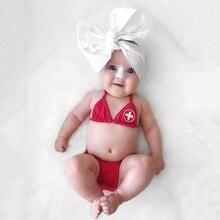 Maillot de bain pour bébé enfants   Rouge, Bikini, 2 pièces, bretelles, costume de bain pour bébés filles, nouvelle collection été