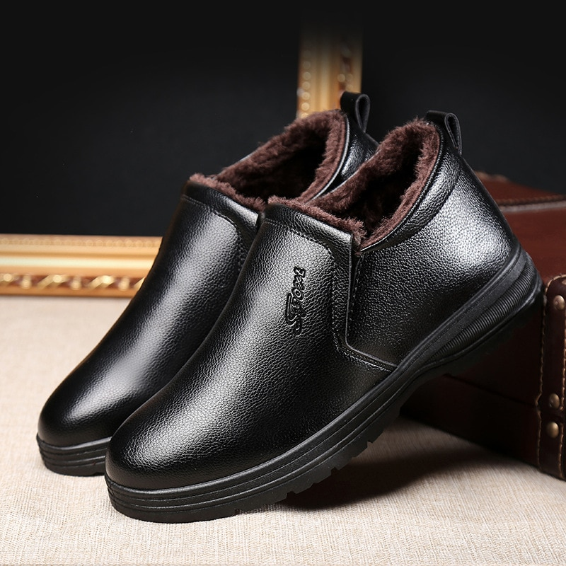 New Handmade Men Genu Leather Winter Boots High Quality Snow Men Boots Ankle Boots For Men ghn8