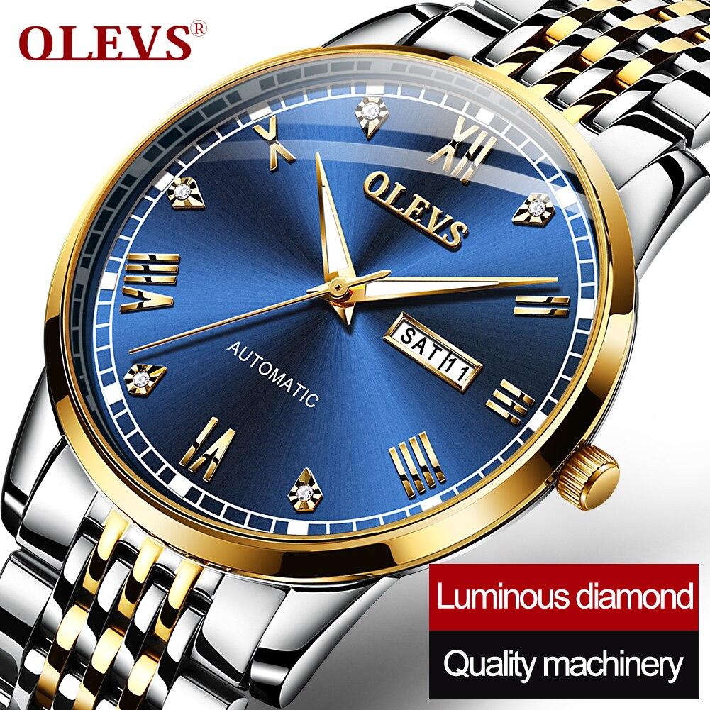 Montre homme olevs marca superior relógio mecânico masculino de luxo negócios 2020 relógio feminino mecânico rado relógio automático