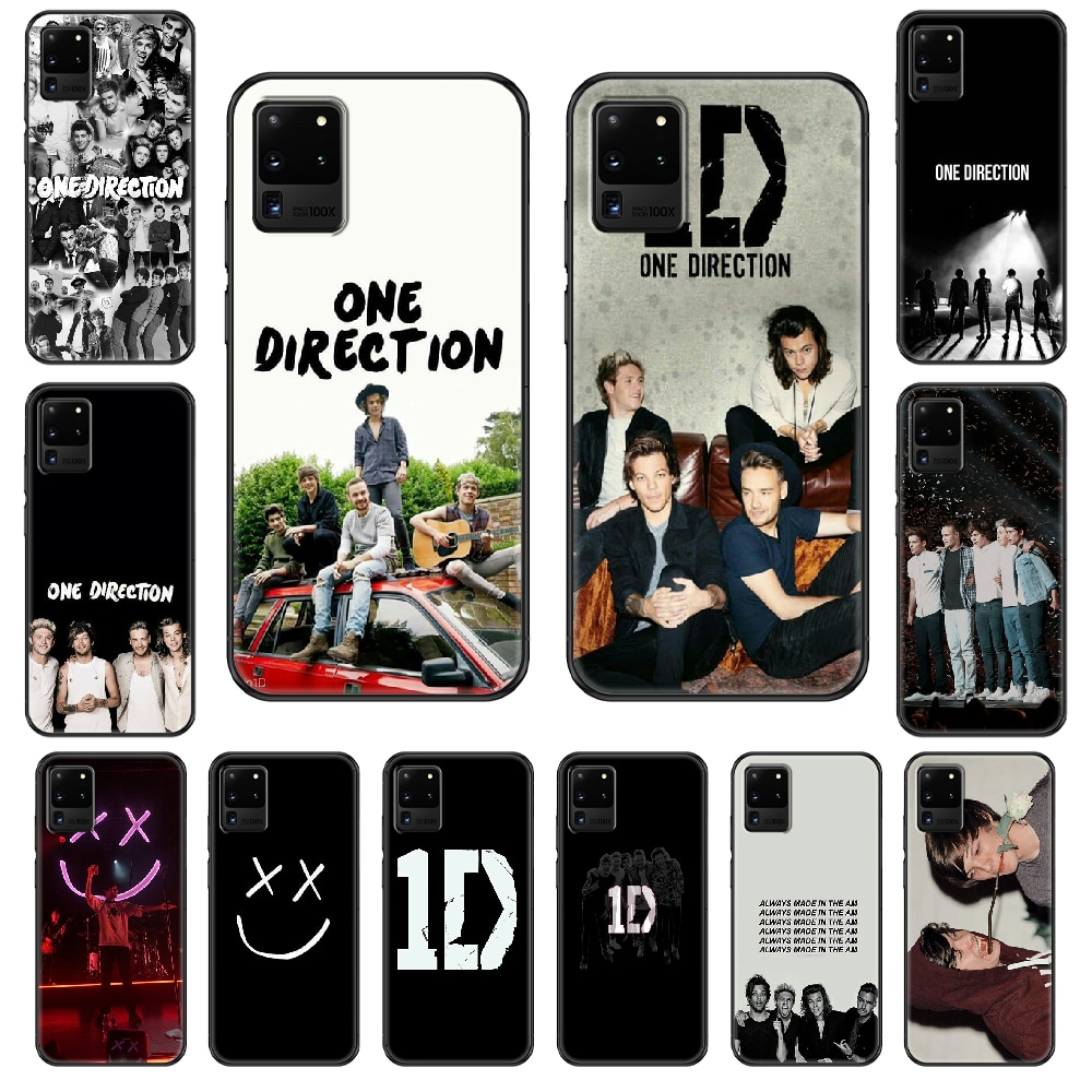 1D One Direction Phone case For Samsung Galaxy  S 3 4 5 6 7 8 9 10 E Plus Lite Edge black soft Etui art shell tpu hoesjes