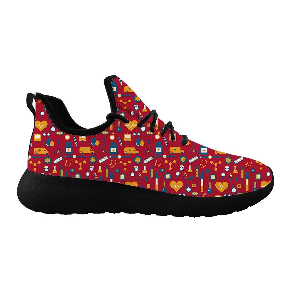 Zapatos planos de cirujano suave Unisex Pediatrics oso malla zapatillas verano al aire libre impresión personalizada mujeres cómodo calzado de malla