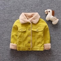 winter baby girls warm coat kids neutral plus thick jacket simple solid color clothing autumn coat children for 0 1 2 3 years