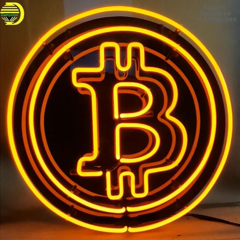 مصابيح إضاءة ليد مخصصة بيتكوين النيون ضوء تسجيل عمود إضاءة LED مطعم الديكور متجر داخلي النيون الأعمال الإعلان لافتات علامات بالإضاءة النيون