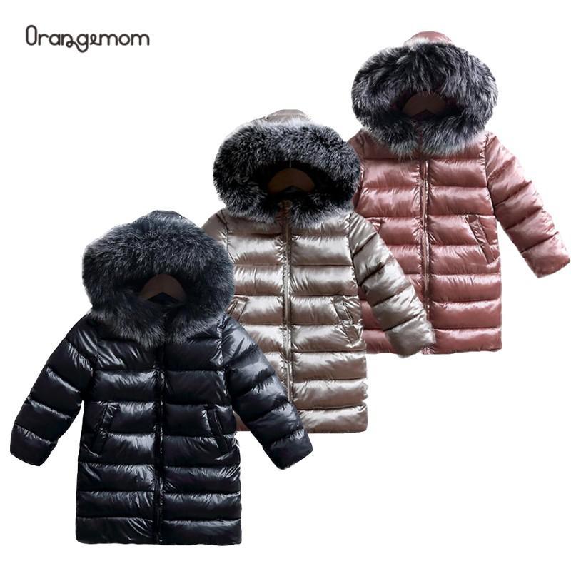 Vestes dhiver pour bébés garçons, Style Long, en fourrure coupe-vent avec capuche, résistant au vent, à la mode, costume de neige, pour enfants de 3-9 ans, hiver 2020