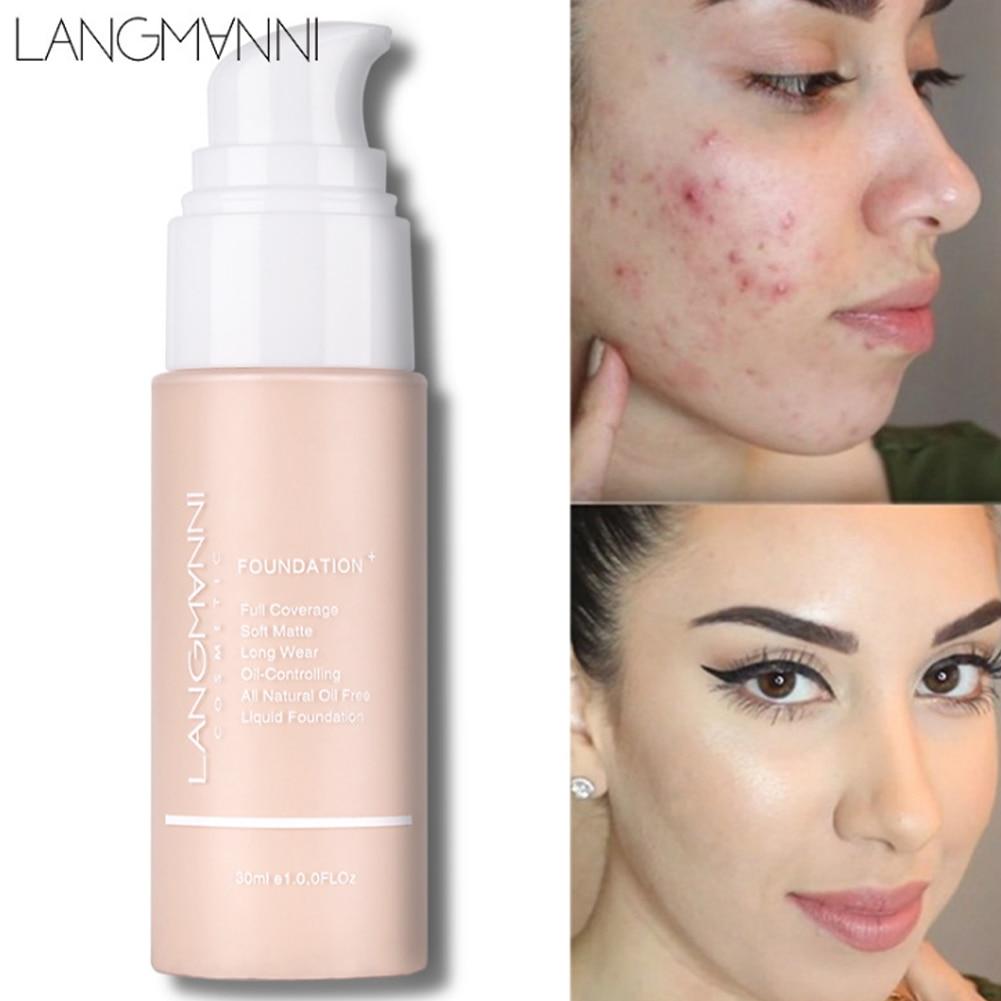 Face Liquid Foundation Cream Long-lasting Concealer Professional Makeup Matte Base Make Up Waterproof Cosmetics Maquiagem