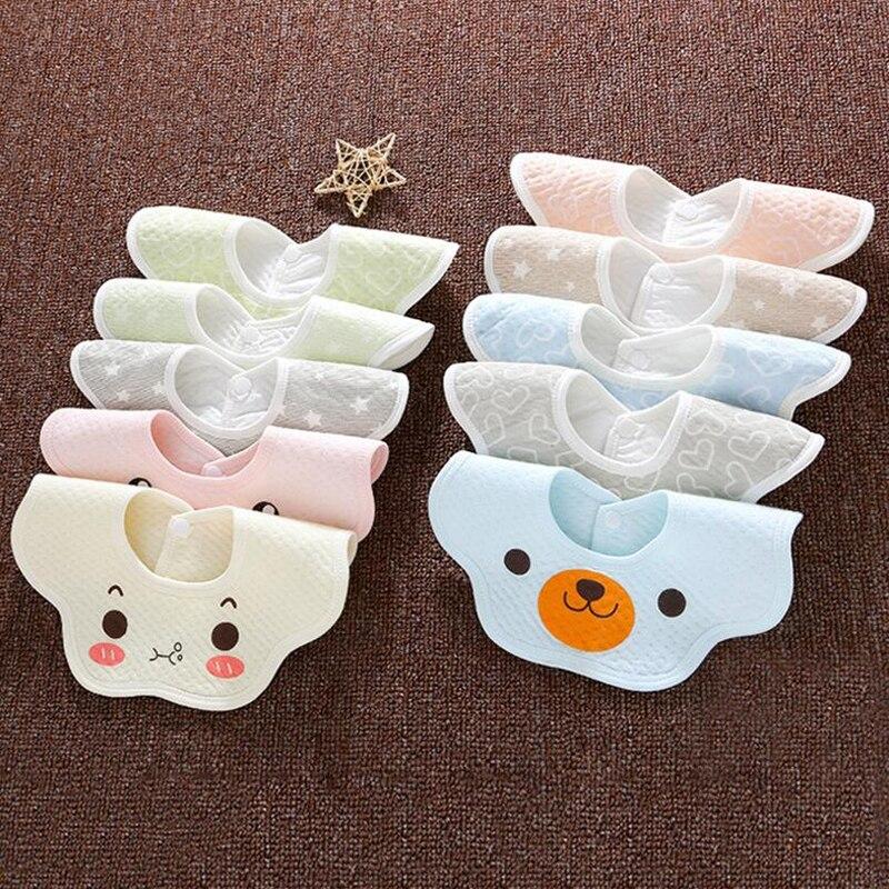 newborn baby Burp Cloths Waterproof Bibs lovely Saliva Bib cartoon flower toddler care Bandana CBM003