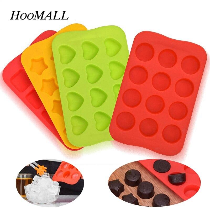 Food Grade Silikon Eiswürfel Mold Schokolade Mould 12 Grids Weiche Eis 12 Grids Weichen Eismaschine Jelly Pudding form Ice Cube