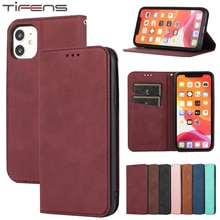 Luxury Leather Flip Case For iPhone 12 Mini 11 Pro X XR XS Max SE 2020 8 7 6 6s Plus Cover Magnetic