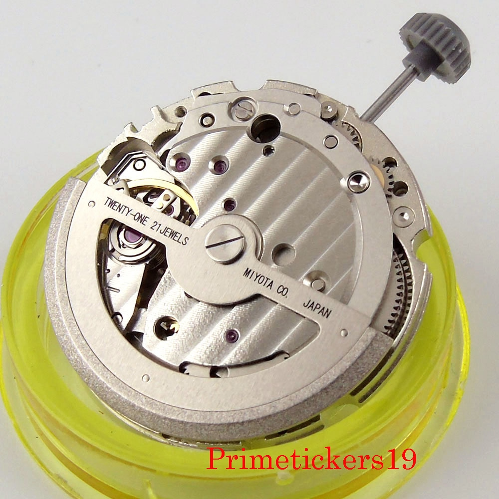 High Quality Mechanical 21 Jewels MIYOTA 821A 8215 Automatic Movement Hack Second Stop Fit Men's Wat