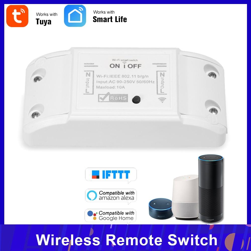 Tuya Wifi Smart Switch 10A/2200W Wireless Remote Switch APP Control Electric Appliances Universal Smart Home Automation Module