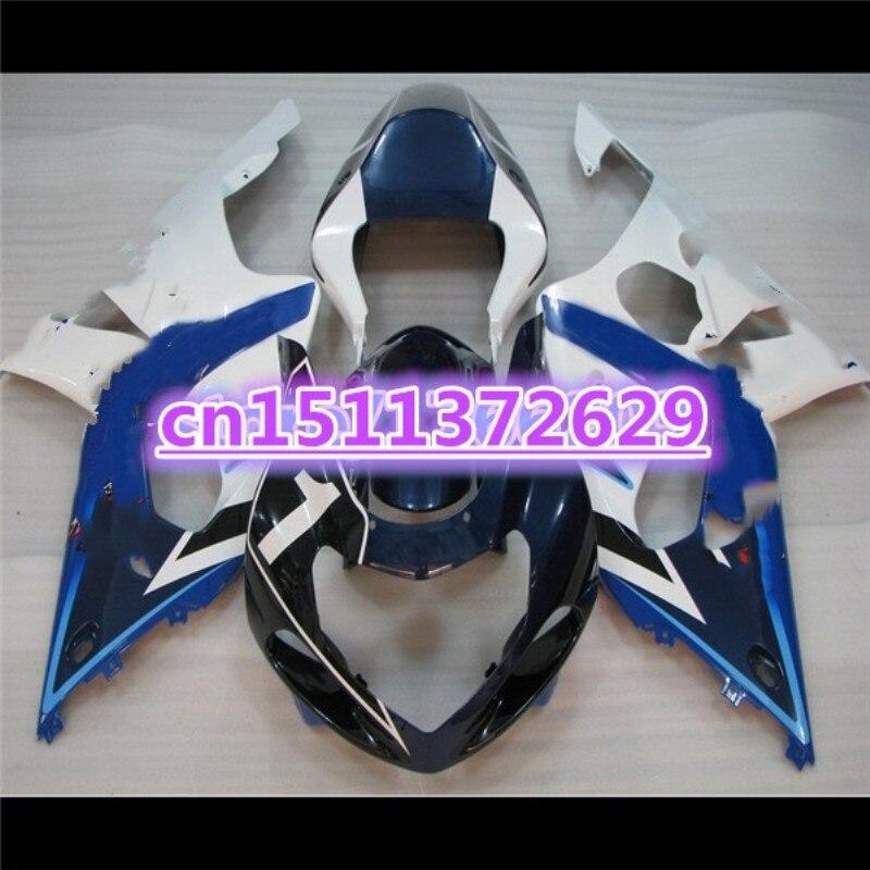 دور ل GSXR1000 2000 2002 أزرق أبيض 00-02 GSXR1000 00 01 02 2001 K1 ABS هدية مجموعة مجموعة البلاستيك 09 لسوزوكي D