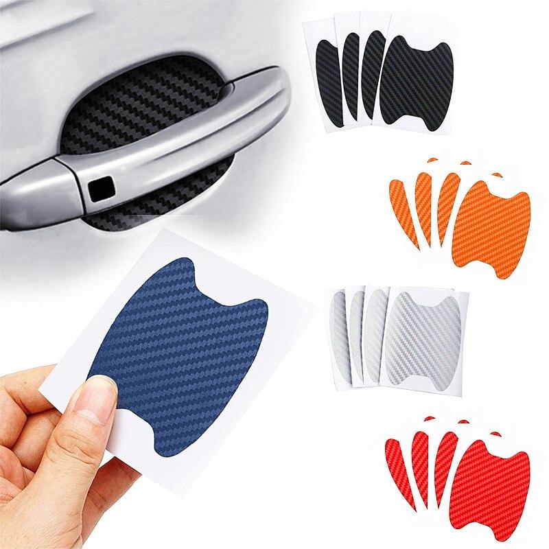 De fibra de carbono protección de manija de coche película para Mercedes Benz W203 W210 W211 W204 A C E S CLS CLK DE LA CIA GLK ML SL