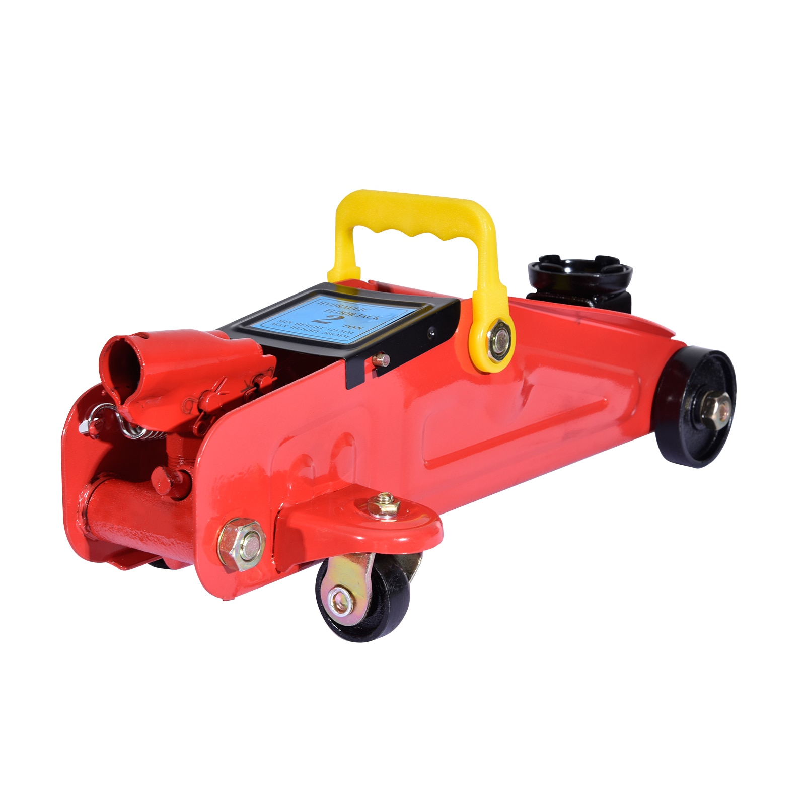 Roll-up Hydraulic Car Jack 2T Car Jacks Red Force Stayer Lifting Height 5.3-12 Inch