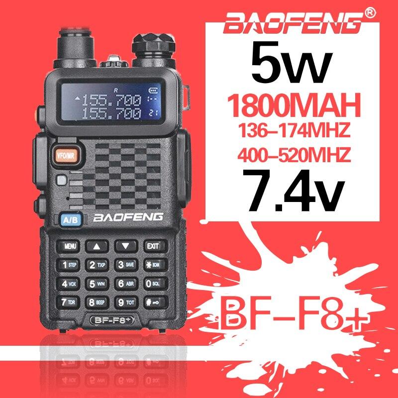 2020 Baofeng BF-F8 ترقية لاسلكي تخاطب الشرطة اتجاهين محطة راديو السيارة المحمولة لحم الخنزير راديو للصيد 5 واط UHF VHF ثنائي النطاق