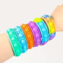 Pulsera antiestrés para niños y adultos, juguete sensorial de descompresión con burbujas y hoyuelos, ideal para regalo, novedad