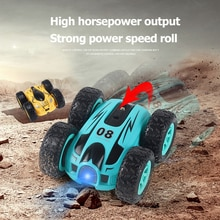 Fun Rotation Electronic Rock Crawler RC Drifting Car Stunt Toys Children Portable Interactive Presen