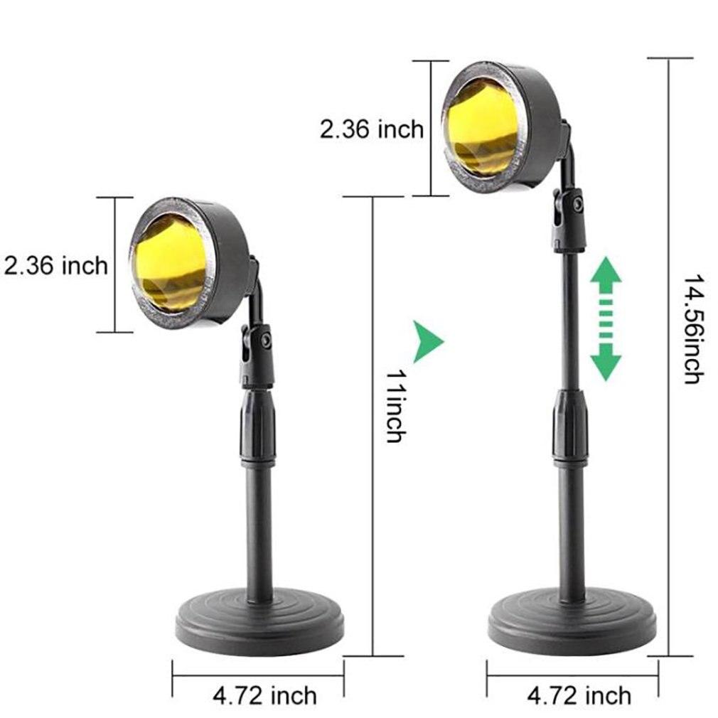 Регулируемый закат проекция ночь огни проектор атмосфера радуга лампа украшение USB зарядка напольный лампа для спальни