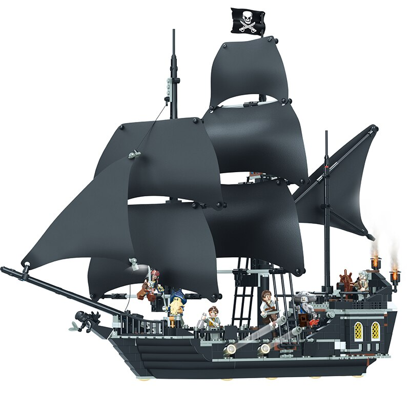 Building Blocks Compatible Moive The Black Pearl Ship Pirates Sailboat Bricks Set Toys for Boys Girls Friends Model Kit Gift