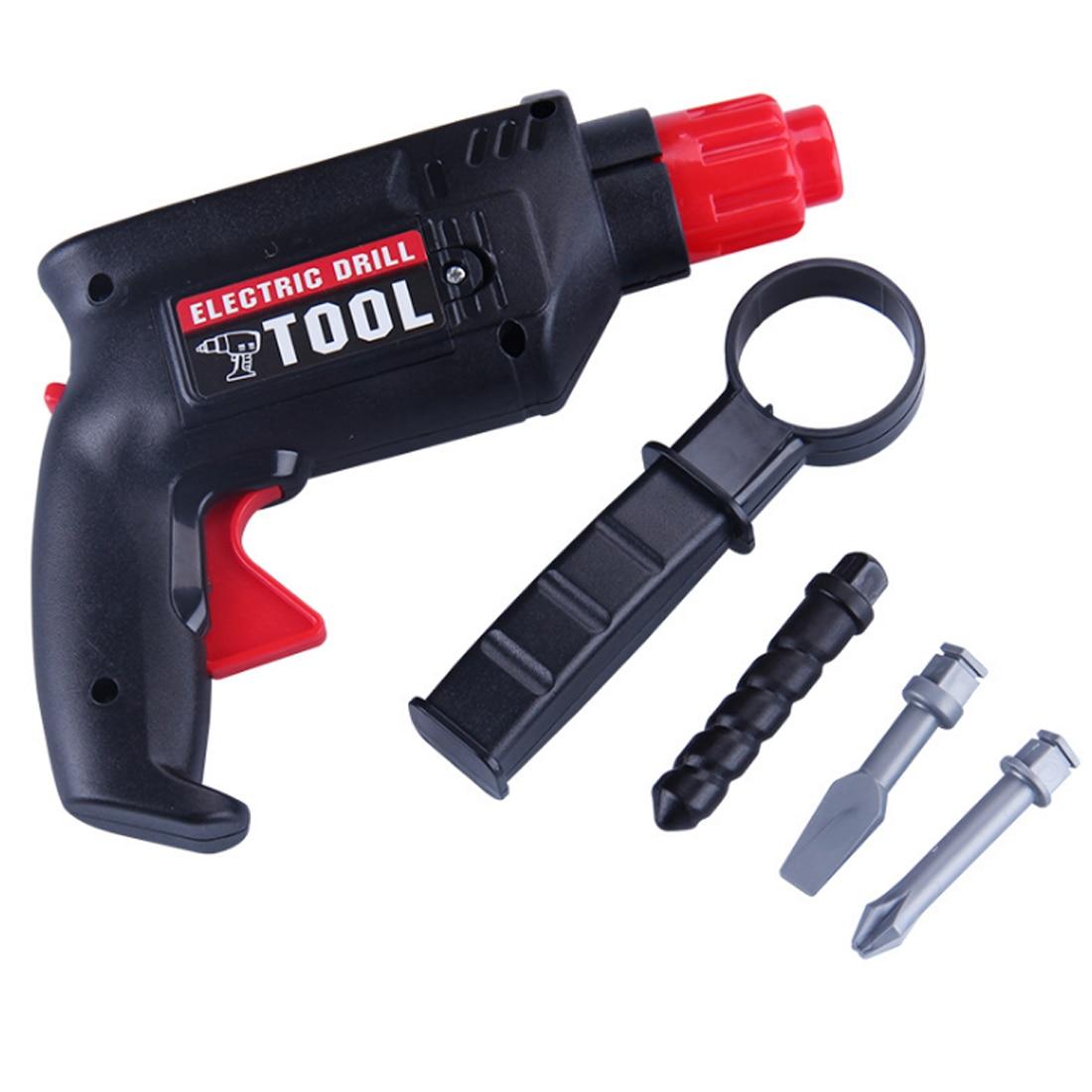 Детский пластиковый инструмент для технического обслуживания, инструмент для ремонта электрической дрели, инструменты для раннего развития, развивающие игрушки для детей, без батареи