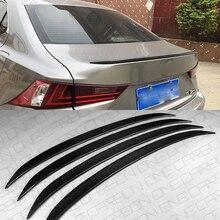 CEYUSOT FOR Lexus IS Series Real Carbon Fiber Spoiler Wing IS200t IS250 IS300 Car Trunk TOM Spoiler