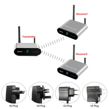 Measy AV230 2 AV100 240V 2,4 ГГц беспроводной av излучатель приемник набор стерео аудио видео ТВ AV сигнал Отправитель 300 м/984FT для VCD