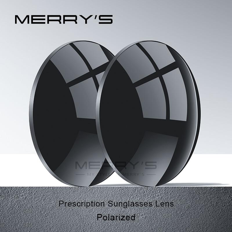 MERRYS الاستقطاب P2 سلسلة 1.56 1.61 1.67 قصر النظر النظارات الشمسية عدسة وصفة طبية CR-39 الراتنج شبه كروي نظارات العدسات UV400