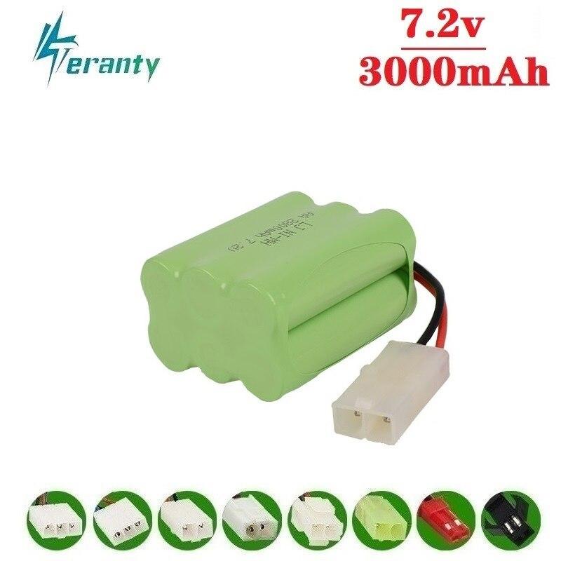 Mise à niveau 7.2v 3000mah NiMH batterie pour Rc jouets voitures chars camions Robots pistolets bateaux AA Ni-MH 7.2v batterie Rechargeable Pack 1 pièces