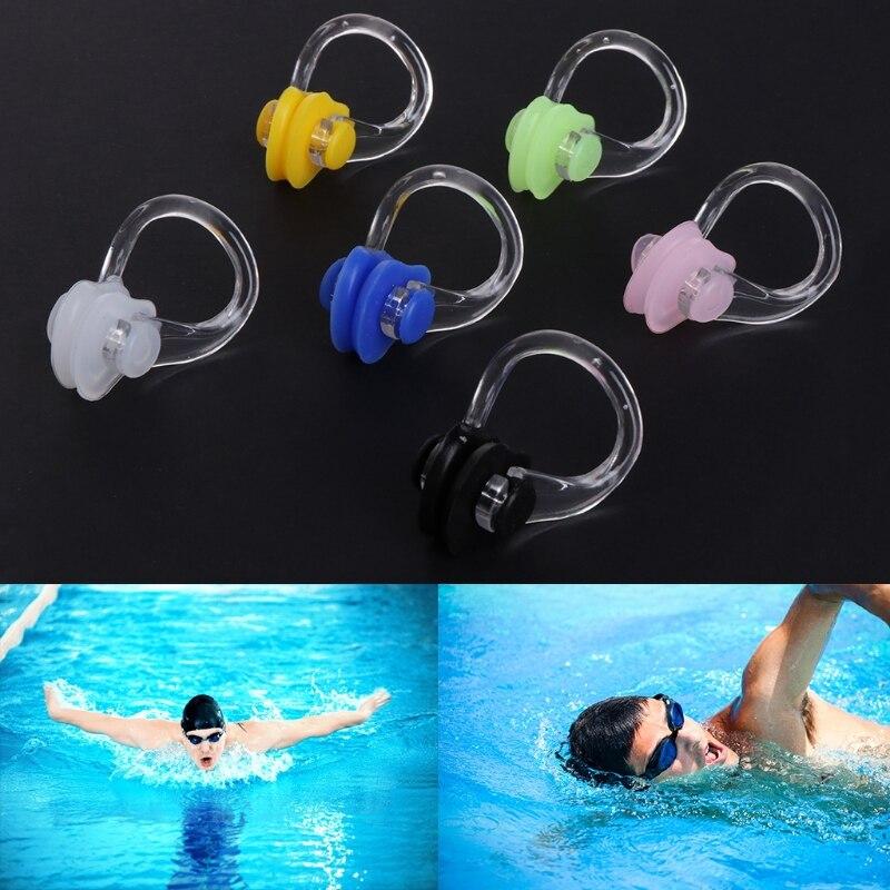 3 uds Gel de sílice natación Clip de nariz hermético natación Fitness pileta PC férula nasal